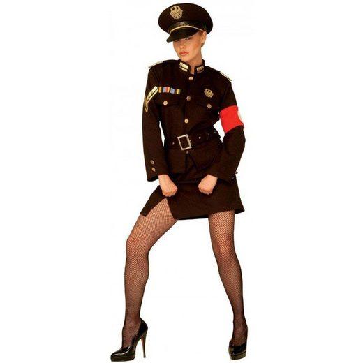 Sexy Offizierin Damenkostüm