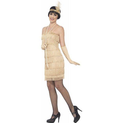 20er Jahre Carla Flapper Kostüm gold
