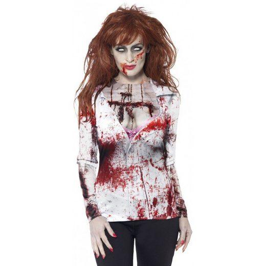 Horror Zombie Frau T-Shirt