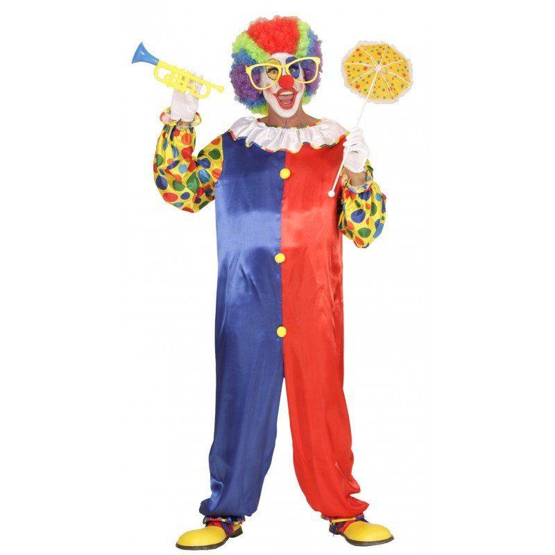 Buntes Clown Overall Kostüm