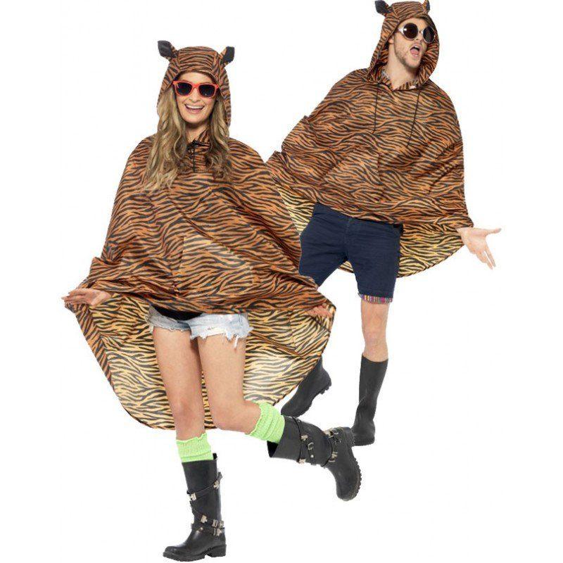 Tiger Party Poncho Regenschutz (Größe)