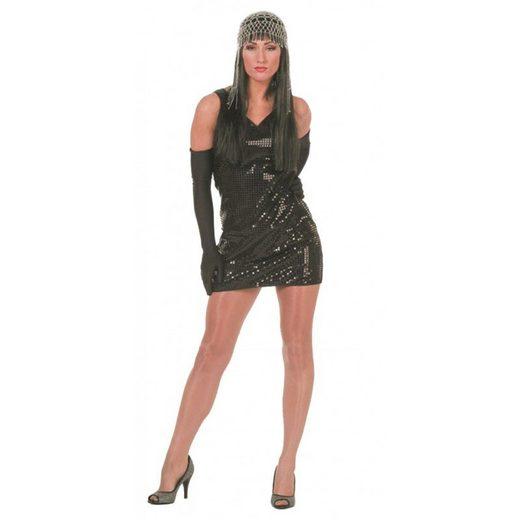 Disco Paillettenkleid in schwarz