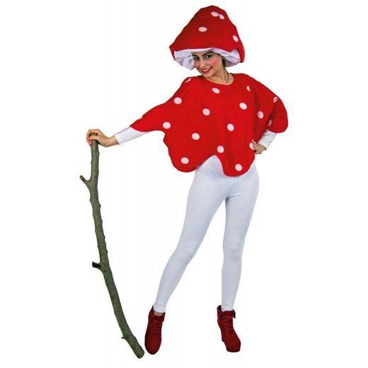 Fliegenpilz Kostüm für Damen - Einheitsgröße