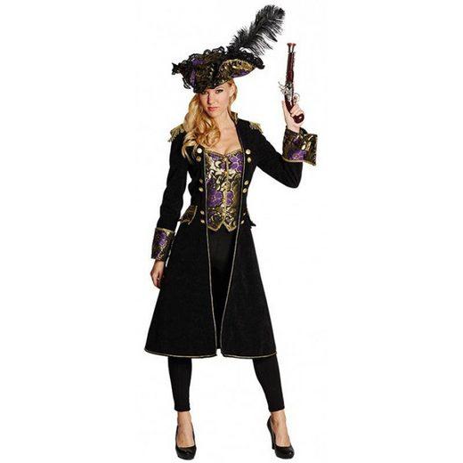 Piratenmantel mit integrierter Weste für Damen