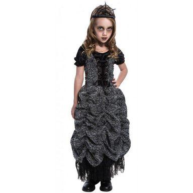 Horror Spinnen Prinzessin Kinderkostüm