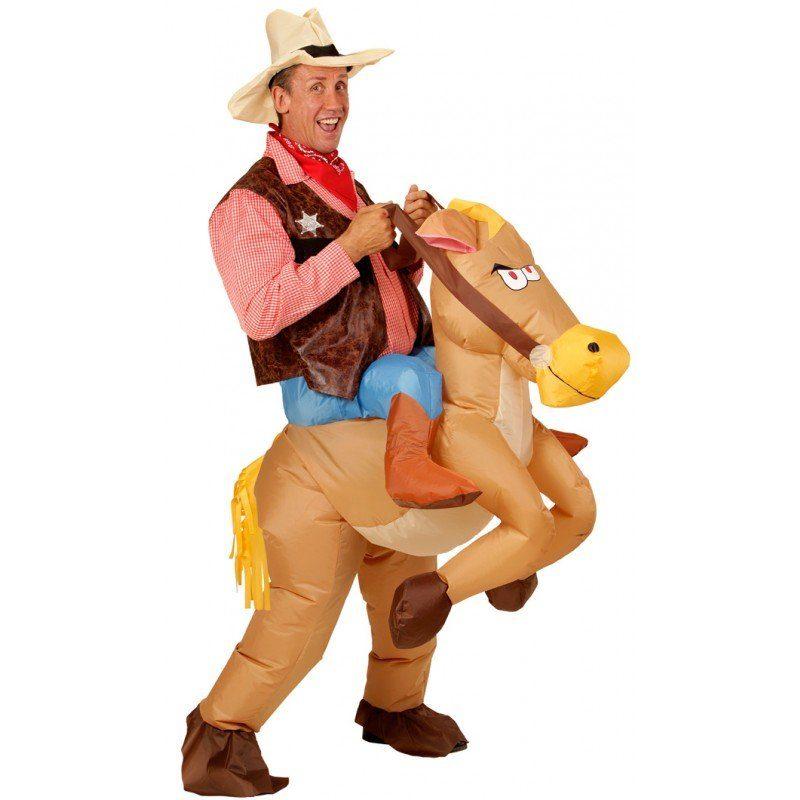Aufblasbares Pferd Cowboy Kostüm - Einheitsgröße