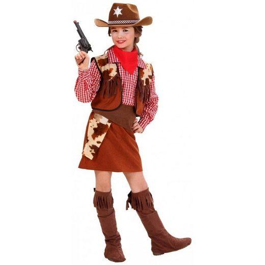 Cowgirl Kostüm Deluxe 6-teilig für Mädchen