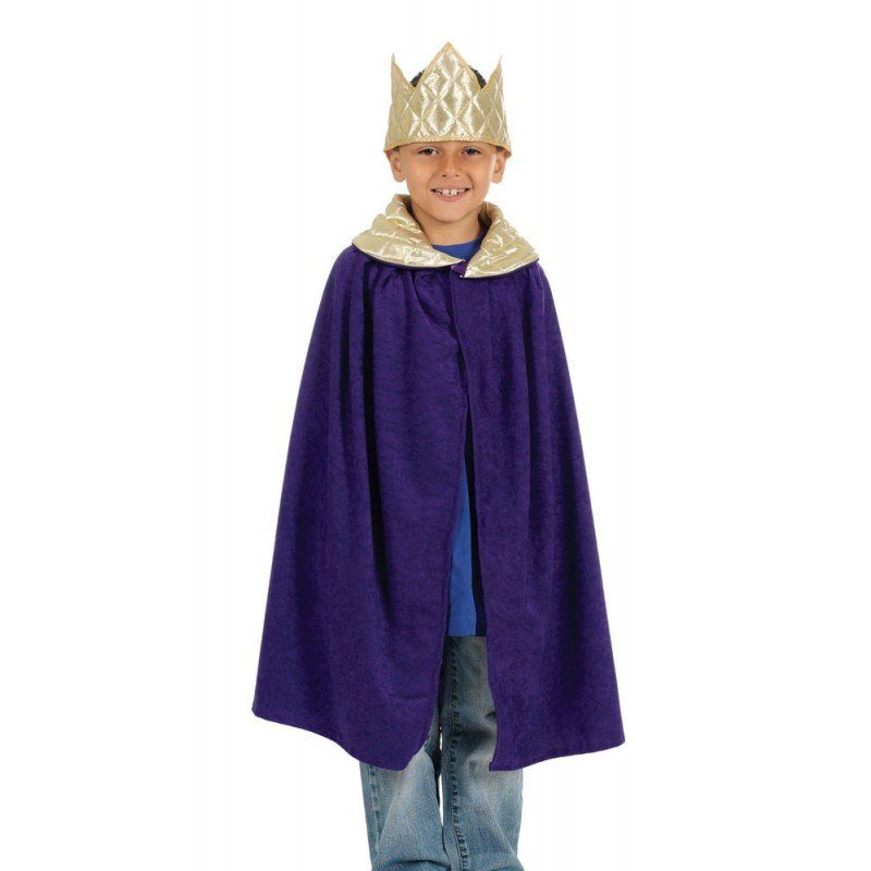 Krippenspiel Königsumhang violett (Größe)