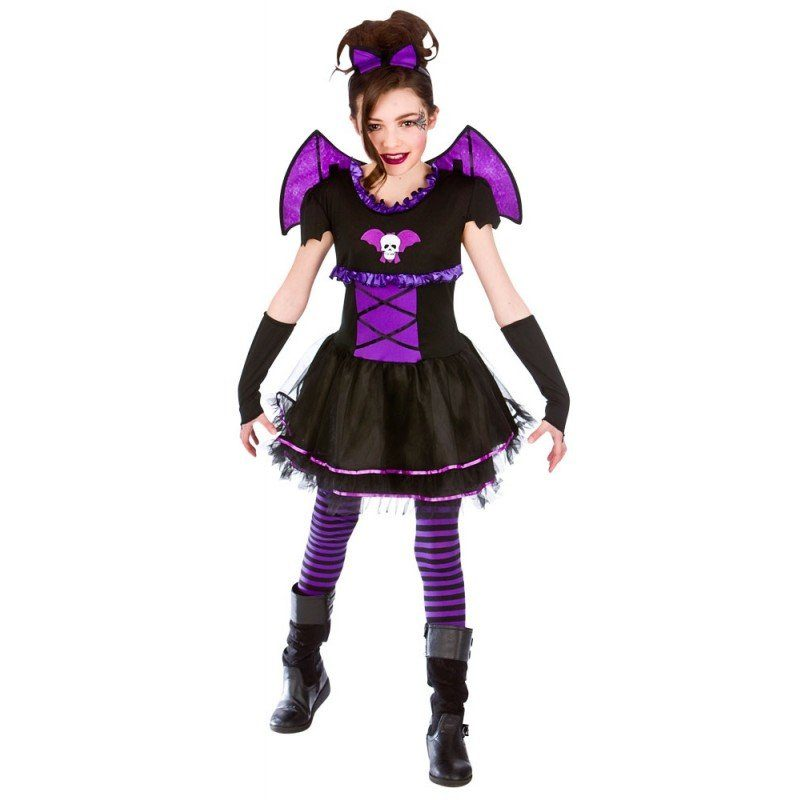 Unisex Viola Vampira Fledermaus Kinderkostüm bunt,  mehrfarbig | 05055294861221