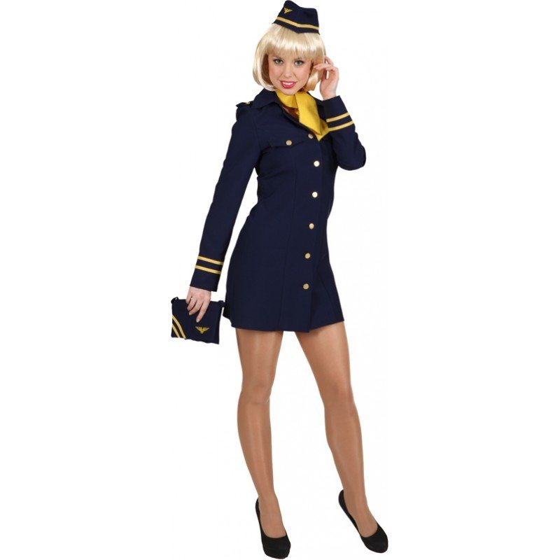 fd90f62876df7 Stewardess Audrey Damenkostüm blau online kaufen | OTTO