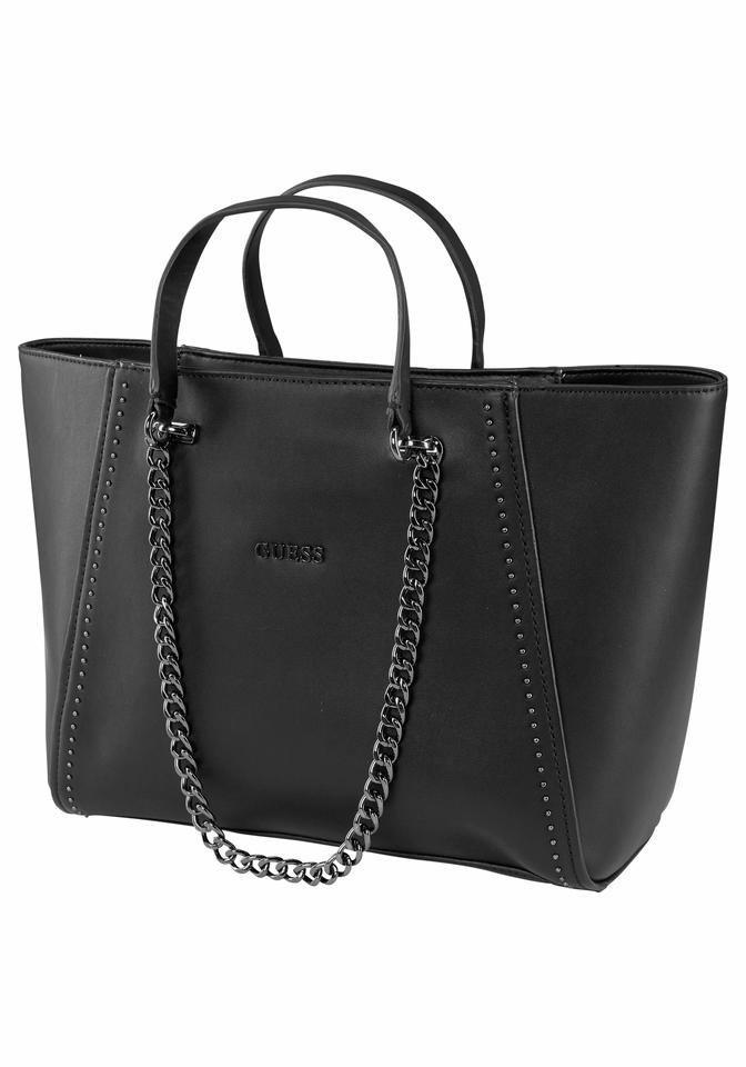 Guess Shopper »Nikki« mit Kettenapplikation in schwarz