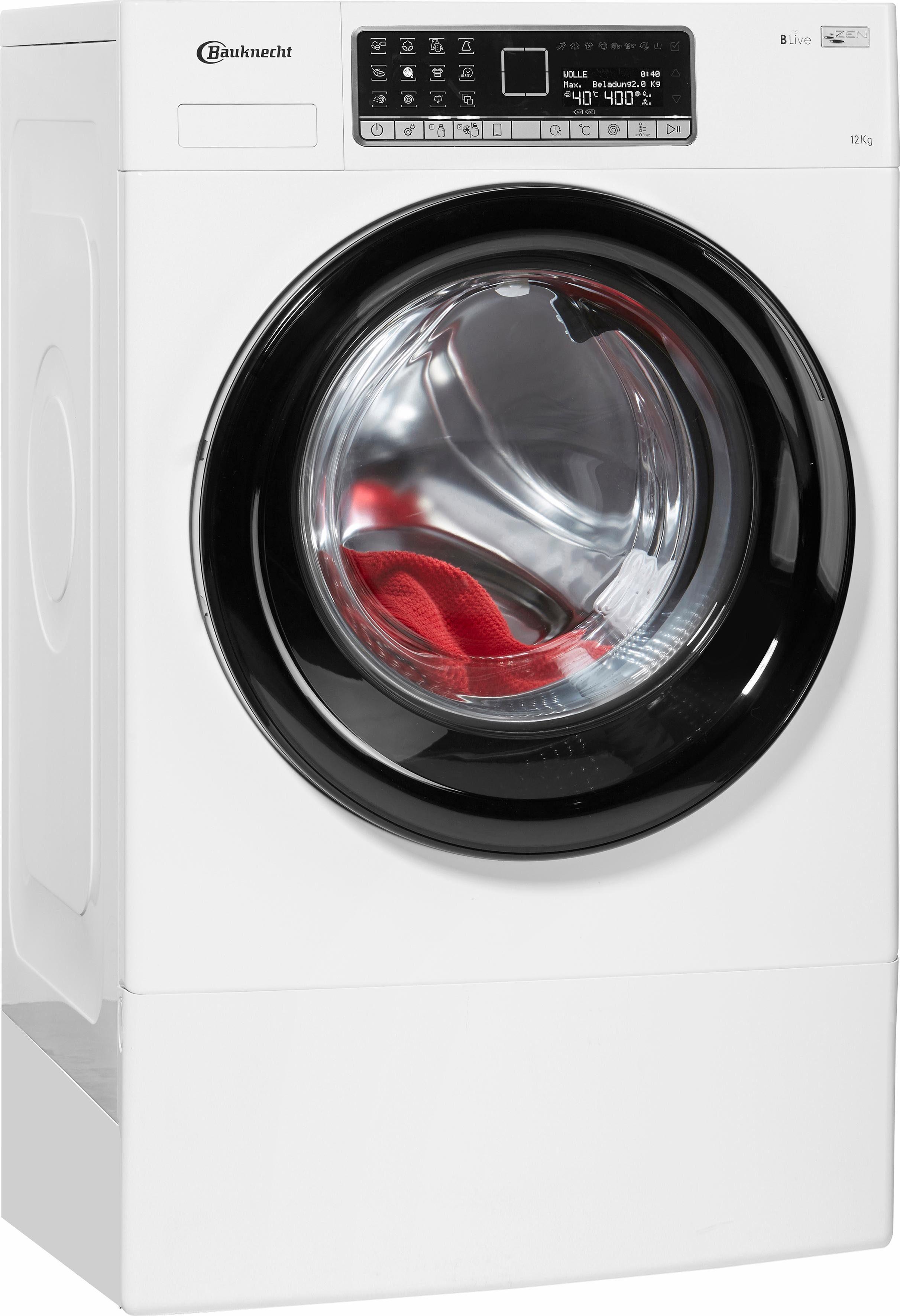 BAUKNECHT Waschmaschine WM Big 1224 ZEN KON, 12 kg, 1400 U/Min