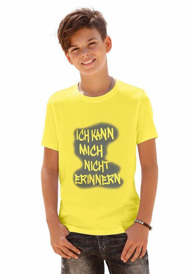 """CFL T-Shirt """"Ich kann mich nicht erinnern"""" in gelb"""