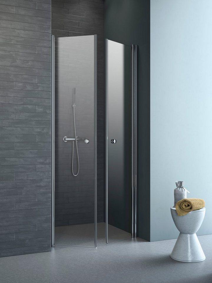 Pendeltür »Relax Vario«, Duschtür mit Verstellbereich von 88-92 cm in silberfarben