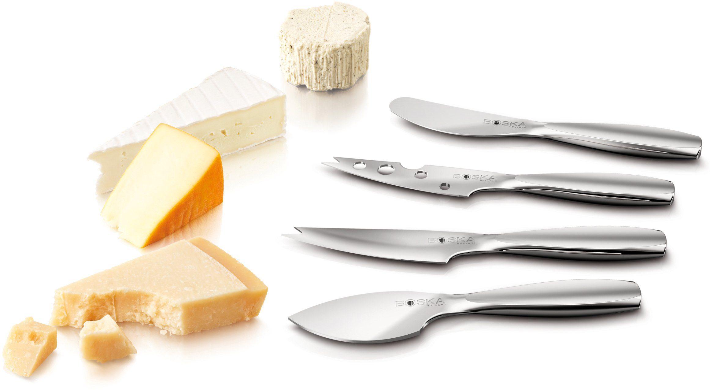 BOSKA Holland Käse-Messer-Set, Edelstahl, 4 Teile, »Mini«