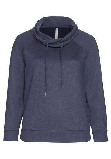 sheego Casual Sweatshirt, mit weitem Kragen