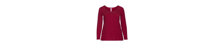 sheego Style Langarmshirt Billig Neueste vEzW6550
