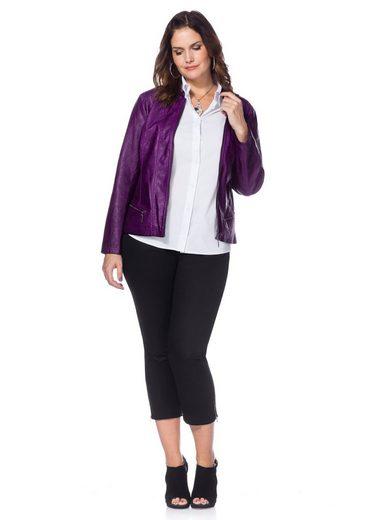 sheego Style 7/8-Hose, seitliche Reißverschlüsse am Saum