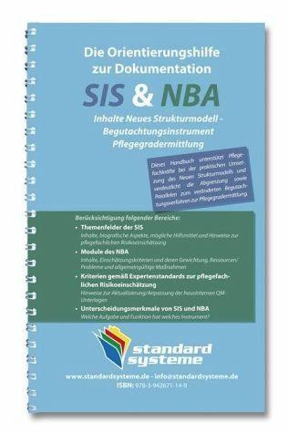 Broschiertes Buch »Die Orientierungshilfen zur Dokumentation SIS...«