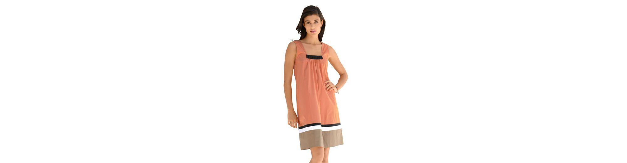 Alba Moda Kleid mit Blockstreifen am Saum Günstig Kaufen Modisch 5VL3lsY