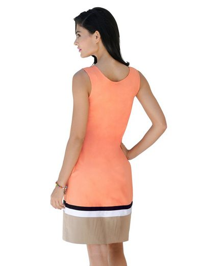 Alba Moda Kleid mit Blockstreifen am Saum