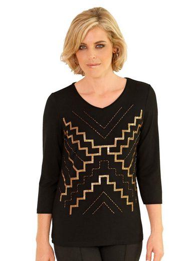 Mona Shirt mit dekorativem Paillettenmotiv