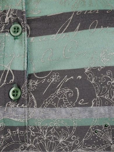 Mona Poloshirt mit Blockringeldessin