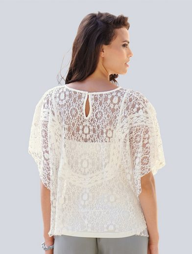 Alba Moda Lace Shirt With Jersey Top