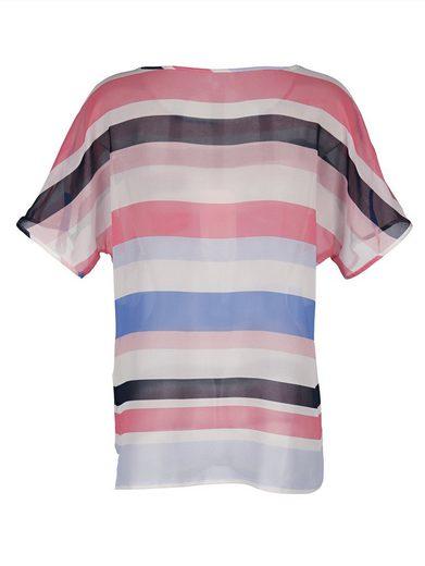 Alba Moda Blusenshirt im modisches Blockstreifen-Dessin