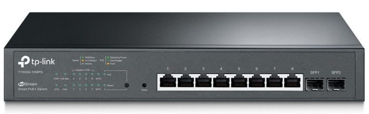 TP-Link Switch »T1500G-10MPS 8-Port Gigabit PoE Switch 2x SFP«