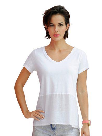 Alba Moda Shirt mit Webeinsatz