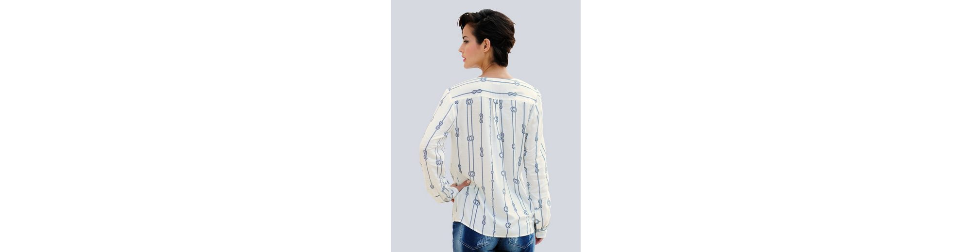 Viele Arten Von Heißen Verkauf Online-Verkauf Alba Moda Tunikabluse mit maritimem Druck seIE3FV
