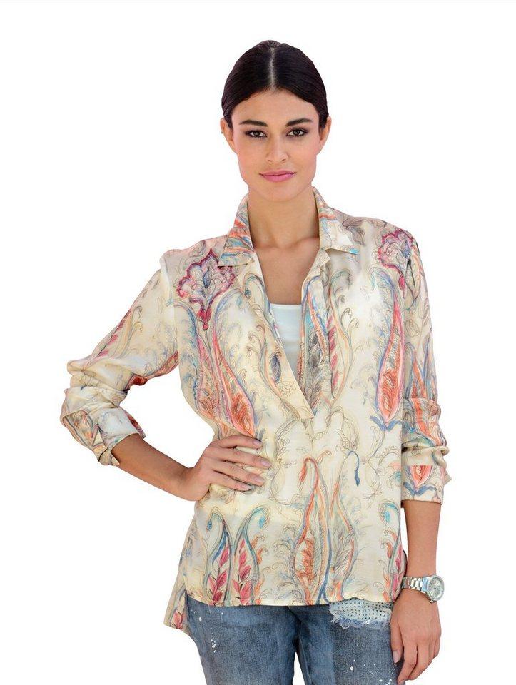 Damen Alba Moda  Tunika mit modischem Print mit Print auf glänzender Qualität  | 04055714611123