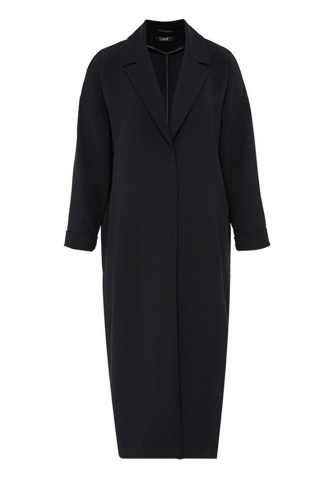 HALLHUBER Mantel mit Reverskragen in schwarz