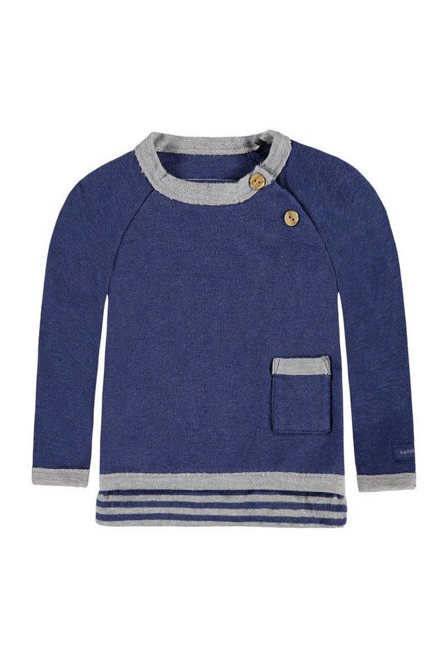 BELLYBUTTON Sweatshirt Baby, farbige Kante und Tasche 1 in twighlight blue mela