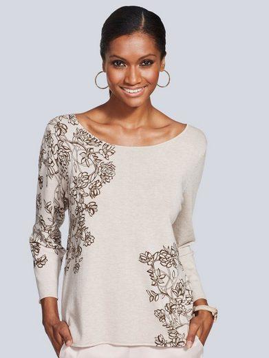 Alba Moda Pullover mit floralem Print
