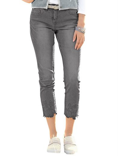 Alba Moda Jeans With Elaborate Stickereisaum
