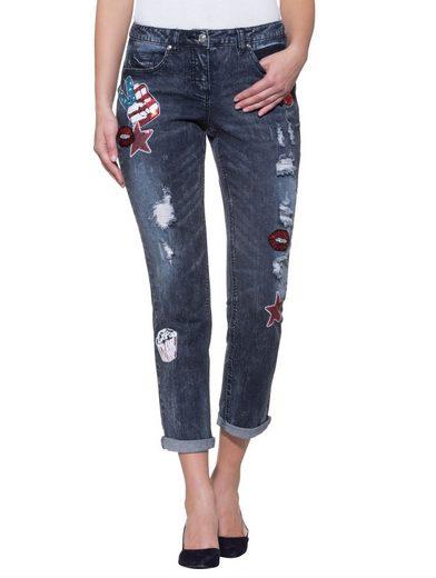 Alba Moda Boyfriend-Jeans in aufwändiger Waschung
