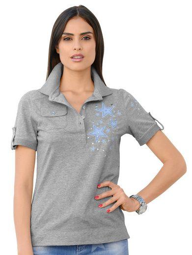 Alba Moda Poloshirt mit Sternenprint