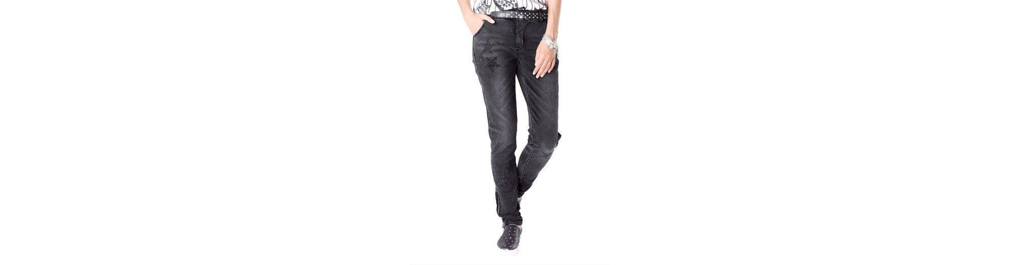 Alba Moda Jeans mit Strass-Sternen in schlanker Form Große Diskont Günstiger Preis 4jbMCqCs