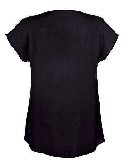 Alba Moda T-shirt With Rhinestone-lettering Of Webware