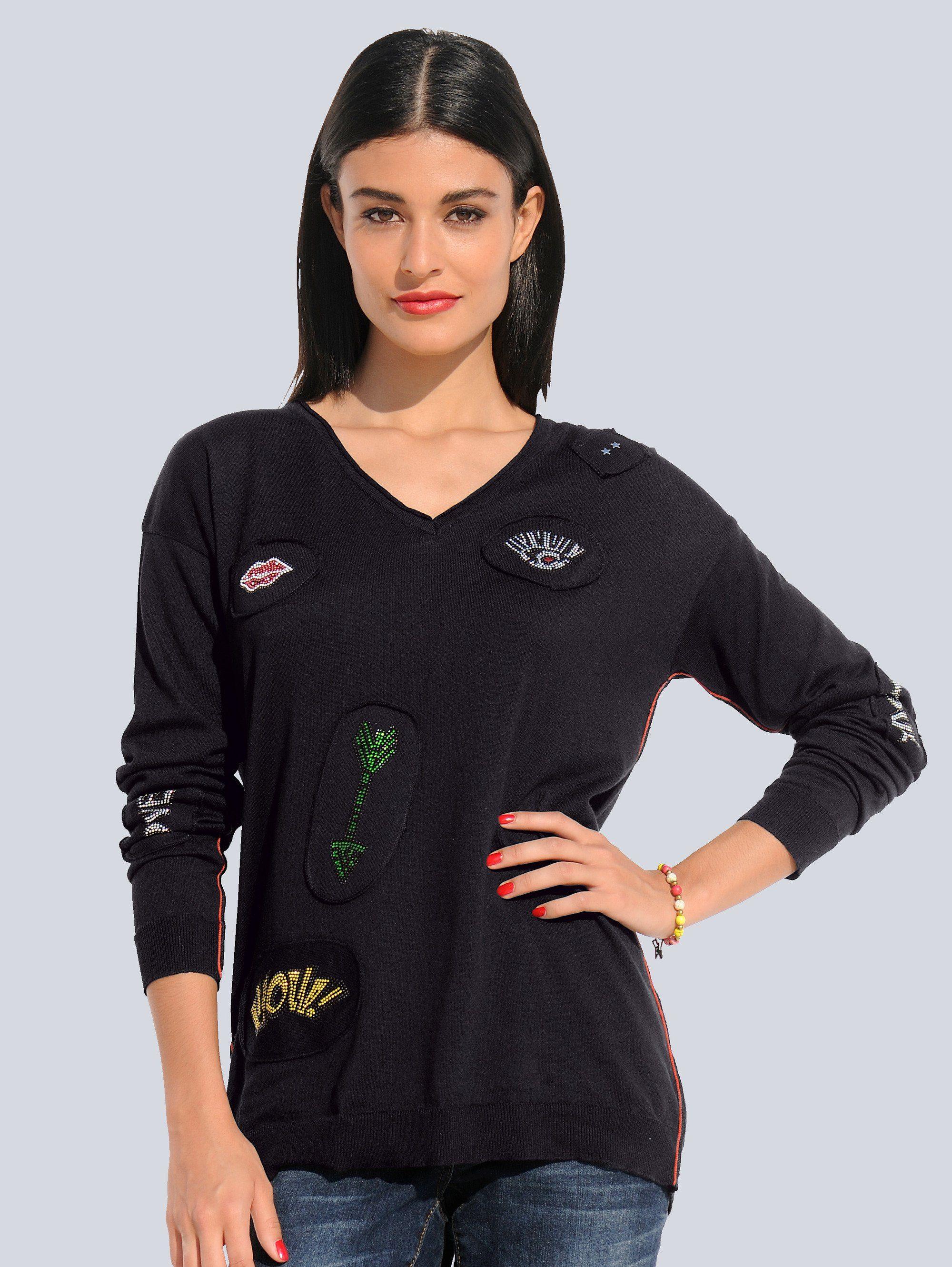 Alba Moda Pullover mit hohem Seitenschlitz kaufen | OTTO