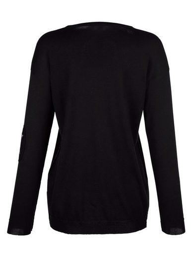 Alba Moda Pullover mit modischen Patches