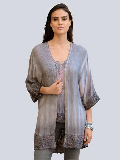 Alba Moda Blouses Jacket Trendy Batik Print