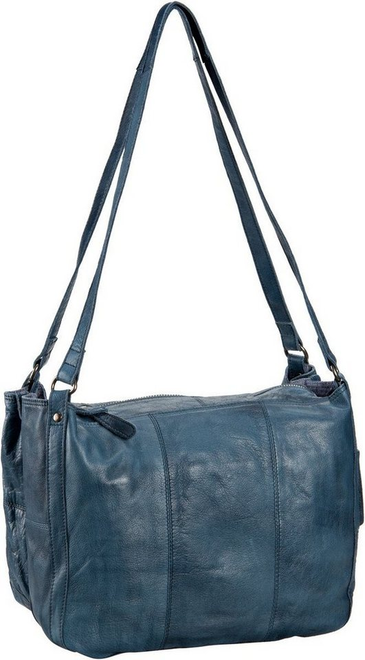 Greenburry Stainwashed Beutel-Shopper in Blue
