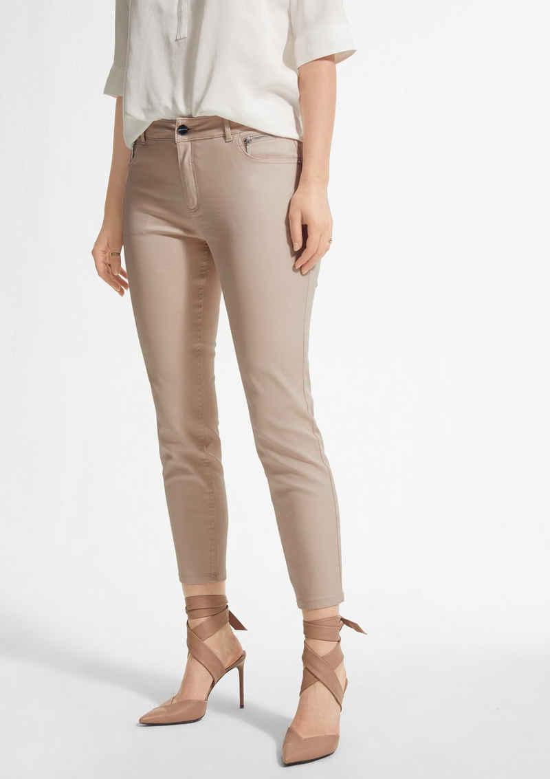 Comma 7/8-Jeans »Slim Fit: Hose im Chintz-Look«