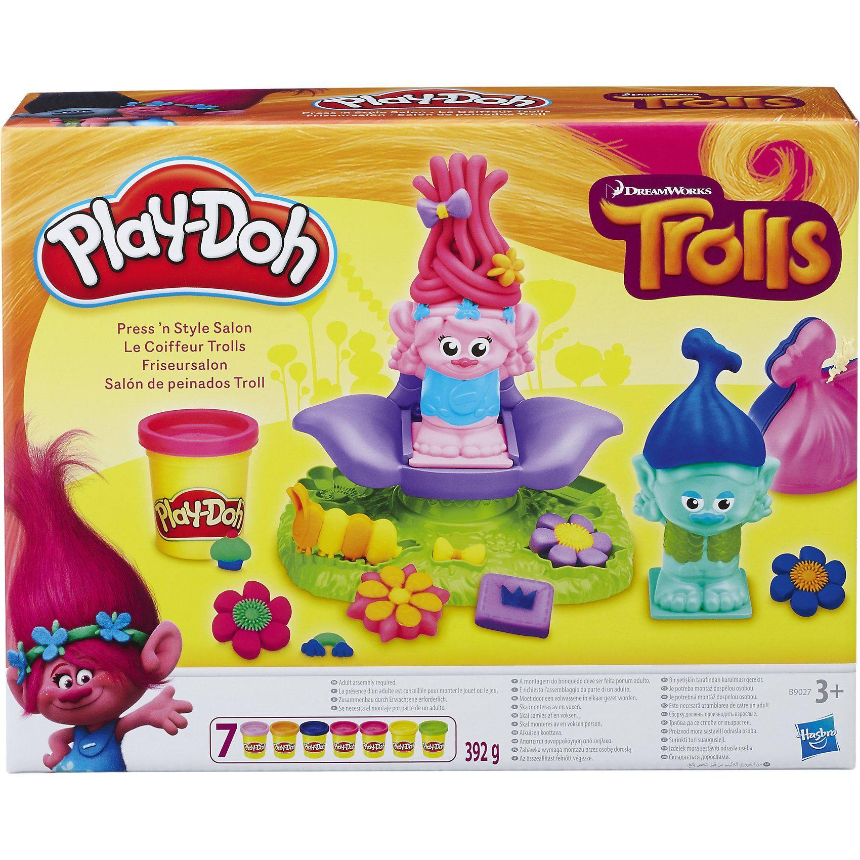 Hasbro Play-Doh Trolls Friseursalon