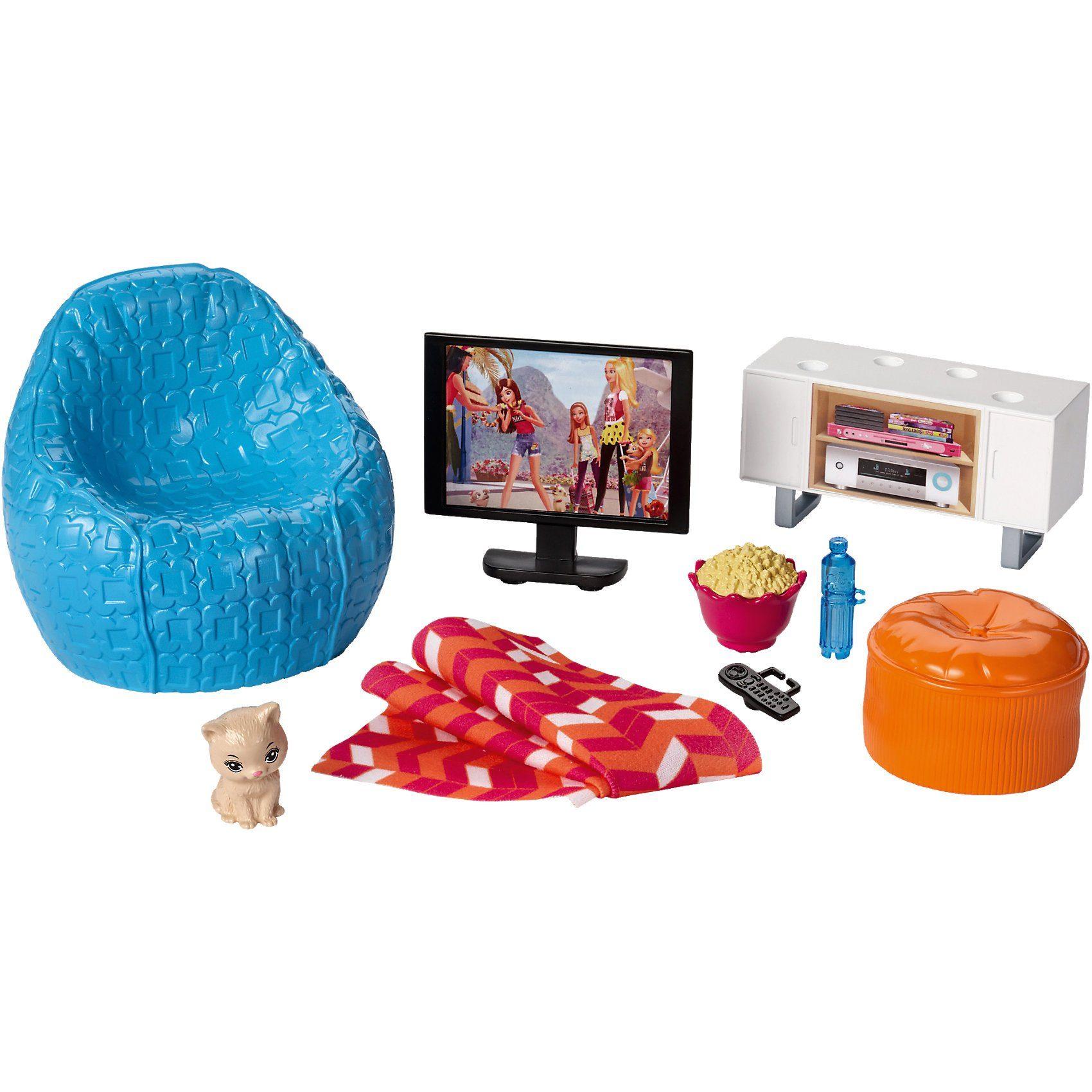 Mattel® Barbie Inneneinrichtung: Fernsehecke & Sessel