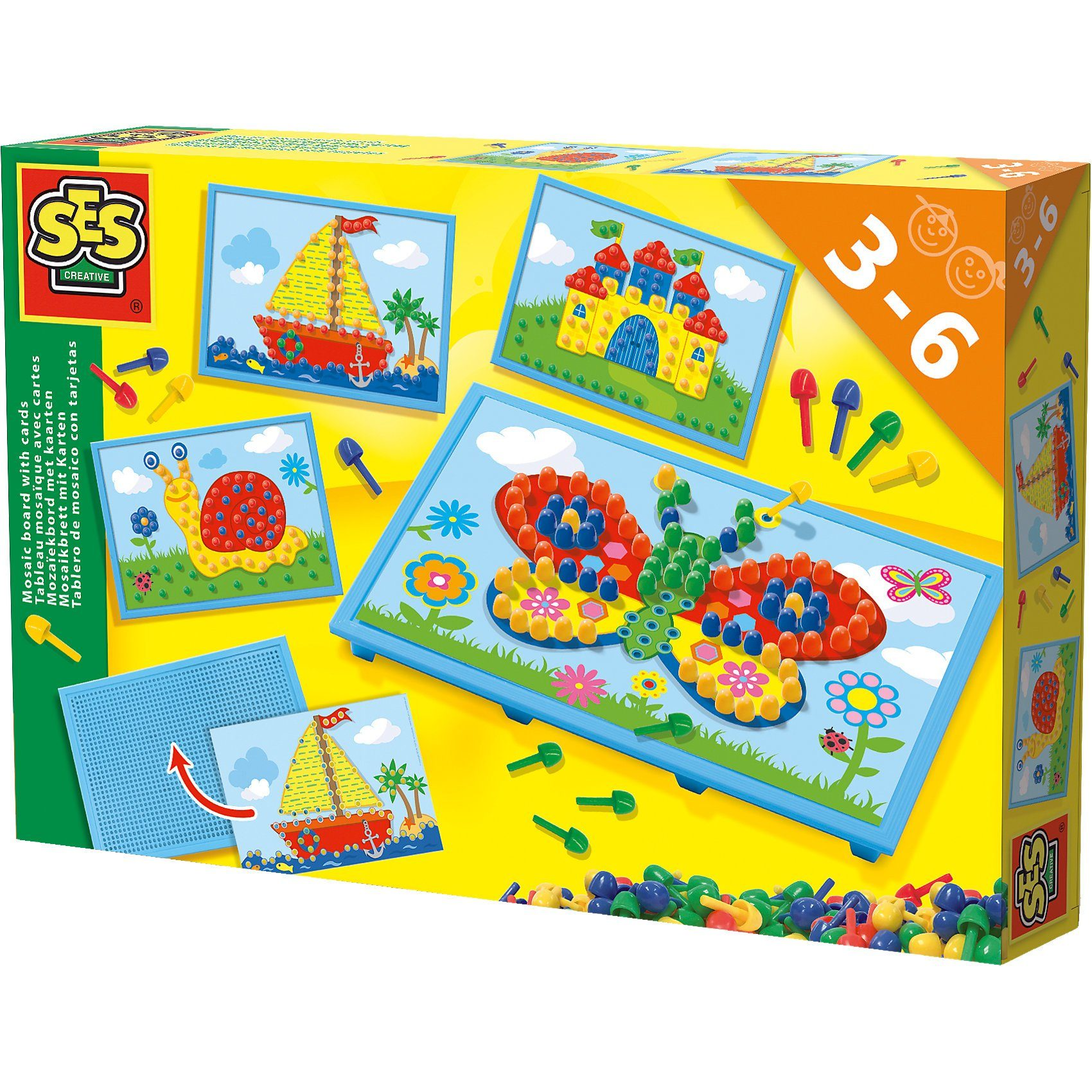 SES Creative Mosaikbrett mit Vorlagekarten