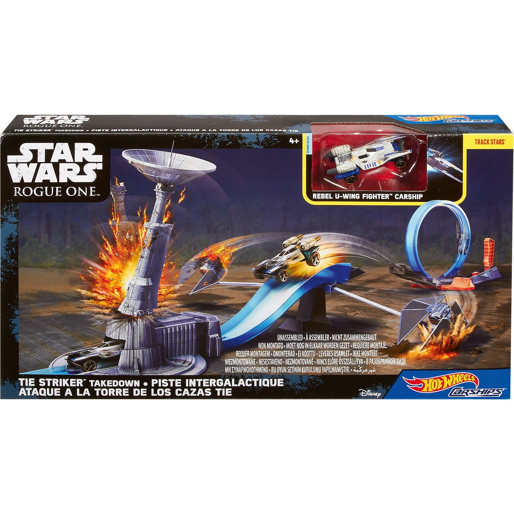 Mattel Hot Wheels Star Wars Rogue One Tie Striker Takedown Spielset